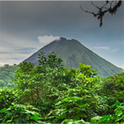 Volcán Arenal en San José, Costa Rica