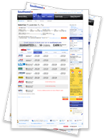 Capturas de pantalla de cómo reservar un auto en Southwest.com